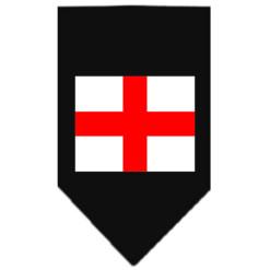 Flag of England dog bandana black