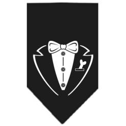 Formal Tuxedo dog bandana black
