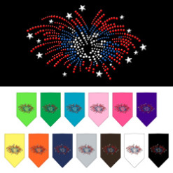 Fourth of July Fireworks dog bandana