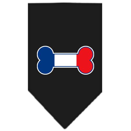 France dog bone flag bandana black