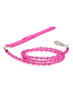 Fuchsia Beaded Dog Leash Jewel