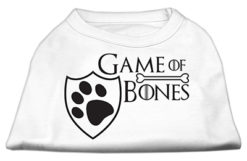 Game of Bones Dog Shirt White