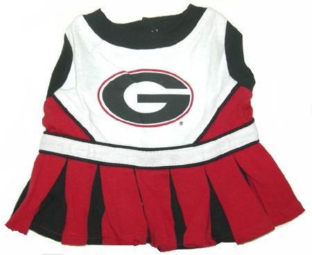 Georgia Bulldogs dog cheerleader dress