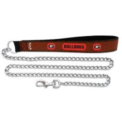 Georgia Bulldogs leather dog chain leash
