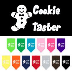 Gingerbread Cookie Taster holiday dog bandana