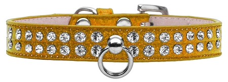 Gold Dog Collar with Czech Crystals