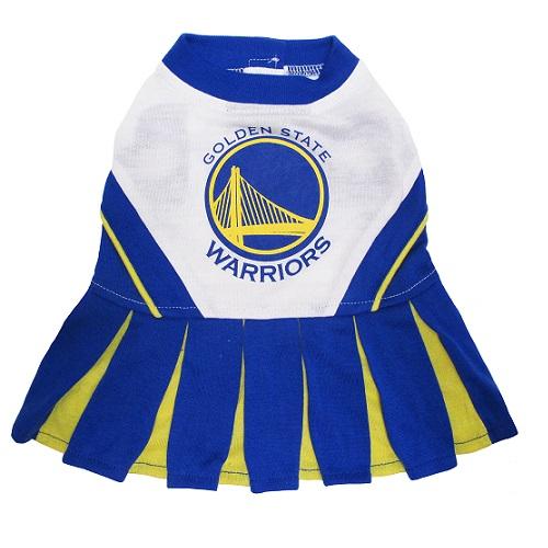 Golden State Warriors dog cheerleader dress