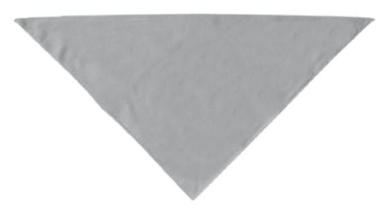 Gray plain dog bandana