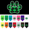 Green Argyle dog paw bandanas