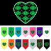 Green Argyle heart dog bandana