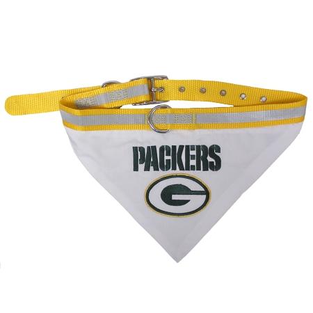 Green Bay Packers NFL Adjustable Dog Collar and Bandana