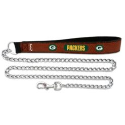 Green Bay Packers NFL leather dog chain leash
