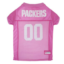 Green Bay Packers Pink Dog NFL Jersey