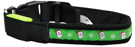 Green Santa Claus LED Adjustable Dog Collar