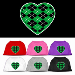 Green and Black argyle colors t-shirt novelty
