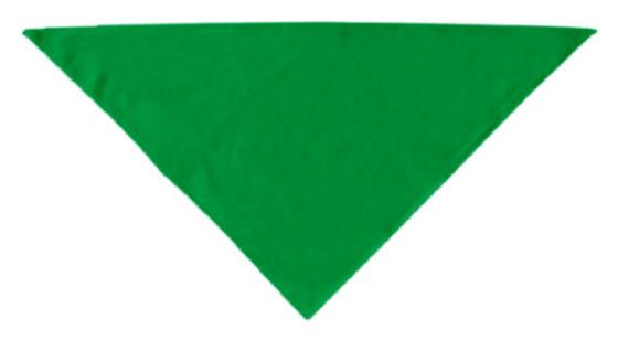 Green plain dog bandana