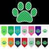 Green polka dot paw dog bandana