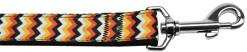 Halloween chevron pattern nylon dog leash
