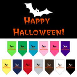 Happy Halloween bat dog bandana