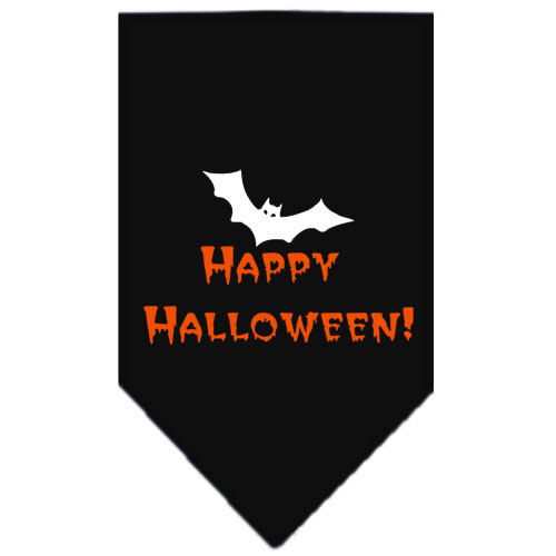 Happy Halloween bat dog bandana black