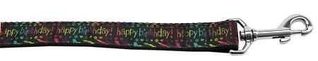 Happy birthday neon letters Nylon Dog Leash