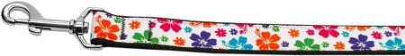 Hawaiian Habiscus Colorful Dog Leash