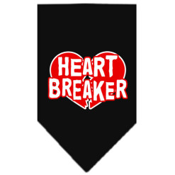 Heart Breaker dog bandana black