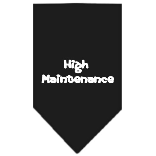 High maintenance dog bandana black