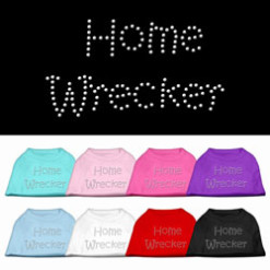 Home wrecker rhinestones dog t-shirt color