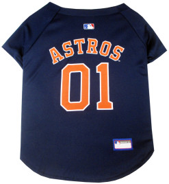 Houston Astros MLB dog jersey back