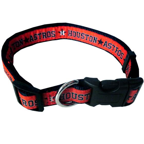 Houston Astros MLB nylon dog collar