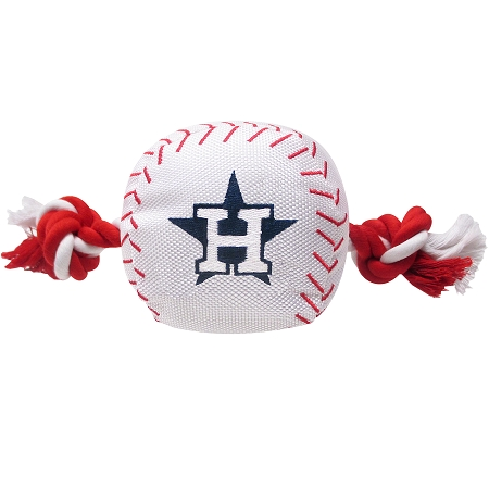 Houston Astros ball and rope MLB dog toy