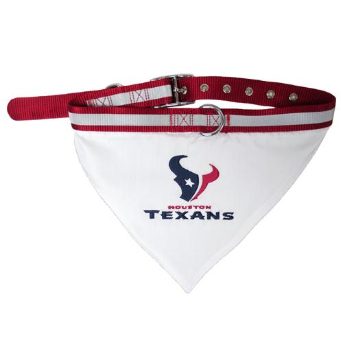 Houston Texans NFL Dog Collar and Bandana