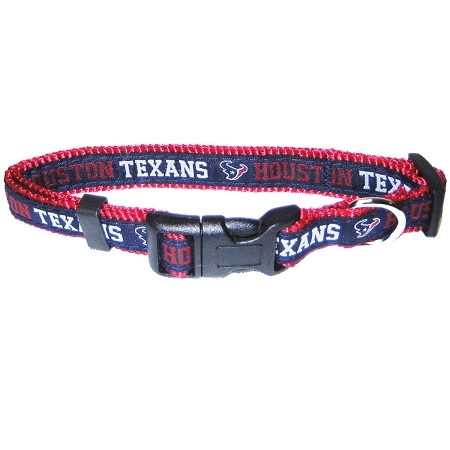 Houston Texans NFL nylon dog collar