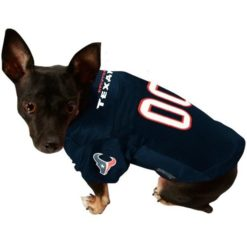 Houston Texans dog jersey alternate style on pet