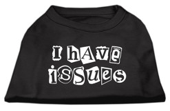I Have Issues dog t-shirt sleeveless baby black