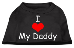 I Heart My Daddy dog t-shirt sleeveless black
