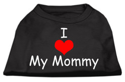 I Heart My mommy dog t-shirt sleeveless black