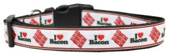 I Love Bacon Adjustable Dog Collar