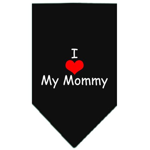 I Love My Mommy dog bandana black