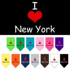 I Love New York dog bandana