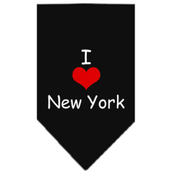 I Love New York dog bandana black