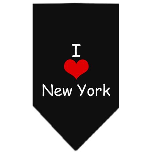 I Love New York dog bandana black