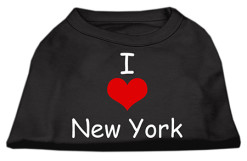 I Love New York dog t-shirt sleeveless black