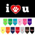 I Love You Dog Paw bandana dog
