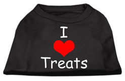 I Love treats dog t-shirt sleeveless black