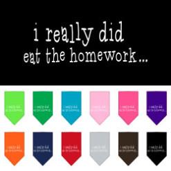 I Really Did Eat the Homework dog bandana