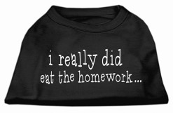 I Really Did Eat the Homework t-shirt sleeveless dog black
