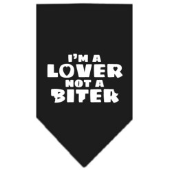 I'm a Lover Not a Biter dog bandana black