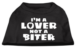 I'm a lover not a biter t-shirt sleeveless dog black